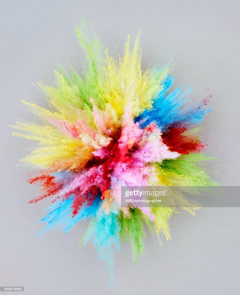 Powder explosion bursting : Stock Photo