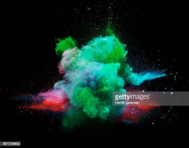 powder explosion in black room
