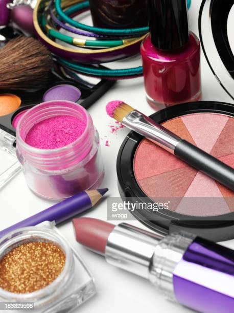 Powder Make-Up and Lipstick