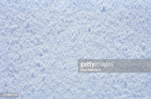 Powder snow, close-up, full frame