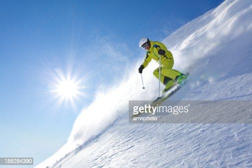 powder snow skiing at sunshine