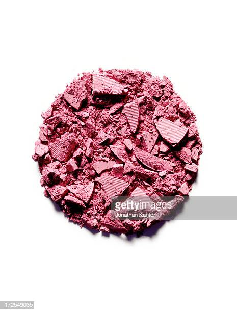 Powdered Makeup in a Circle