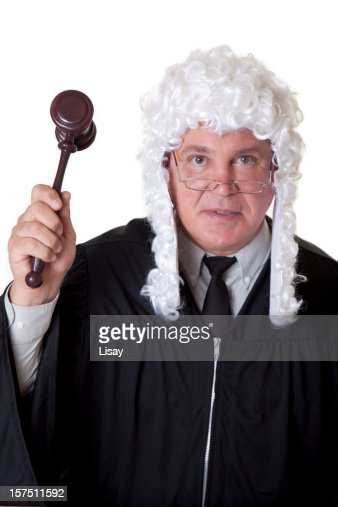 Powdered wig and gavel