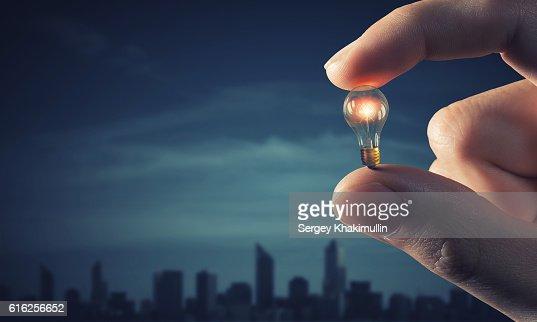 Power and energy concept . Mixed media : Foto de stock