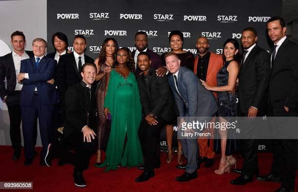 'Power' cast members attend the STARZ Original series 'Power' Season Four Premiere at The Newseum on June 8 2017 in Washington DC