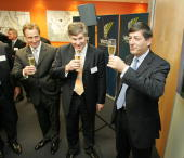 Power company Vector lists on the share market in Auckland New Zealand Monday August 15th 2005 NZSX ceo Mark Weldon Vector ceo Mark Franklin and...