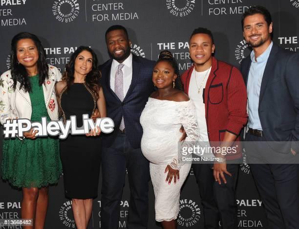 'Power' Creator Courtney A Kemp Lela Loren Curtis '50 Cent' Jackson Naturi Naughton Rotimi Akinosho and JR Ramirez attend PaleyLive NY presents an...