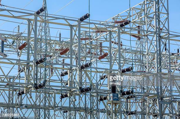 Power Grid at an Electric Utility Substation