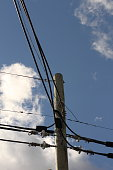 power lines of a big city