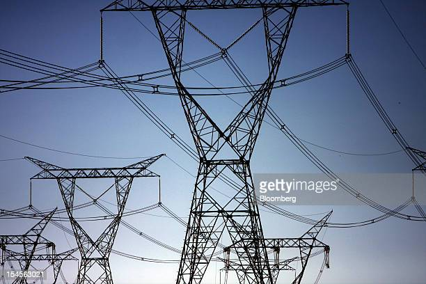 Power lines carry electricity generated by Itaipu dam near Foz do Iguacu Brazil on Thursday Oct 18 2012 The hydroelectric dam located on the border...