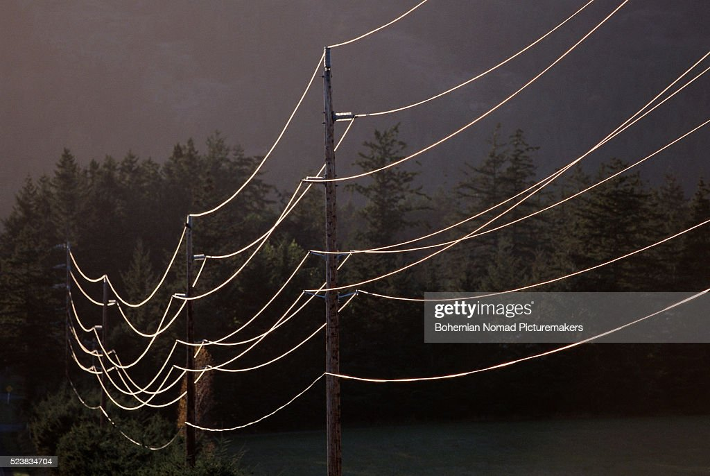 Power Lines on Orcas Island
