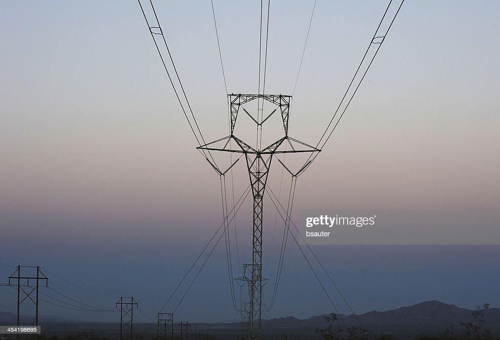 Líneas de potencia : Foto de stock