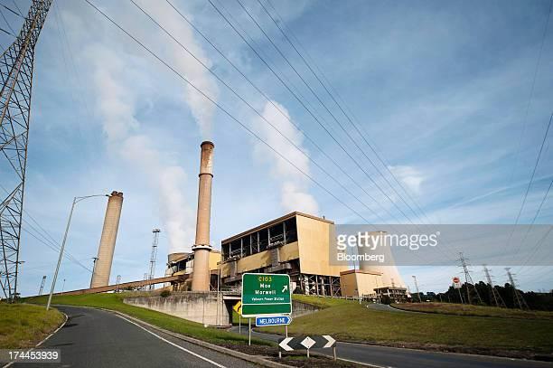 Power lines run past TRUenergy Holdings Pty's Yallourn coalfired power station in Yallourn Australia on Thursday July 25 2013 Australian Prime...