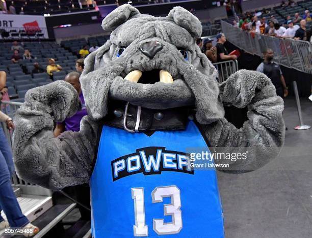 Power mascot Junk Yard Dog performs during week two of the BIG3 three on three basketball league at Spectrum Center on July 2 2017 in Charlotte North...