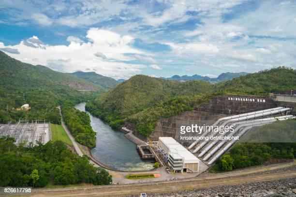Power plant at Srinakarin dam in Kanchanaburi, Thailand