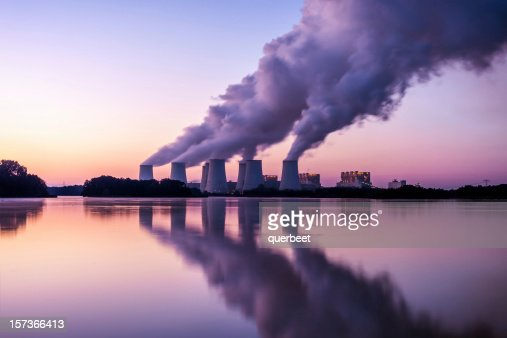 Power Plant in the sunrise