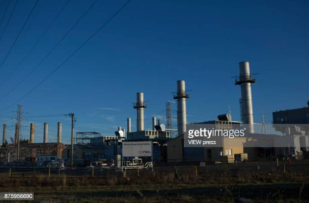 Power plant is seen from the street on November 17 2017 in Kearny New Jersey The United States is still contributing to the global greenhouse gas...