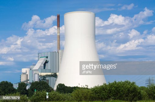 Power plant on the Rhine : Stock Photo