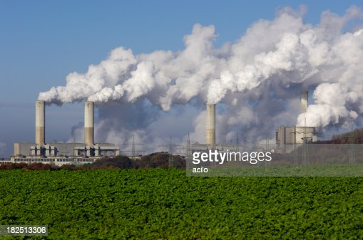 Power plant with pollution