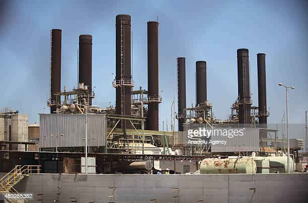 Power plants are seen in Gaza City Gaza on July 29 2015 The Gaza Strips only functioning power plant is set to resume operations following a oneweek...