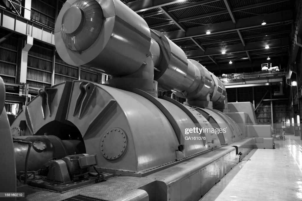 Power plant's turbine room : Stock Photo