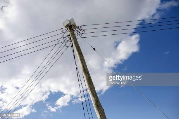 Power pole on May 17 2017 in Talek Kenya