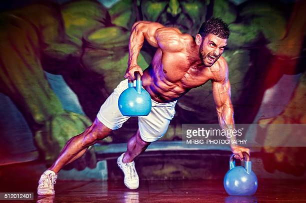 Power Push-Ups with Kettle Bell