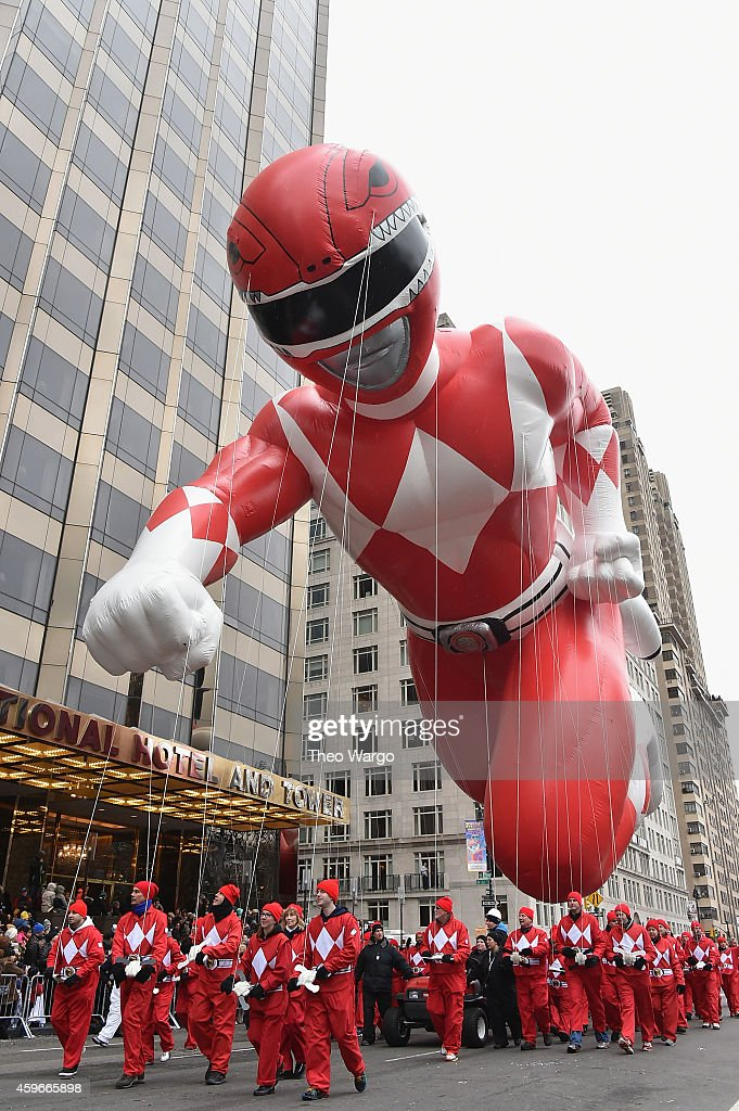 Power Ranger balloon during the 88th Annual Macy's Thanksgiving Day Parade on November 27 2014 in New York City