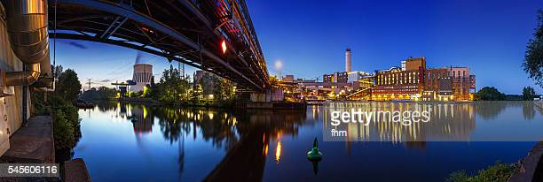 Power station (Berlin Reuter West) Panorama at blue hour