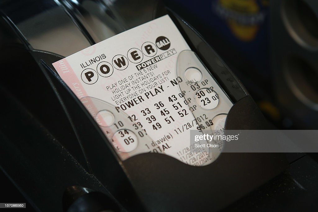 A Powerball lottery ticket is printed for a customer at a 7-Eleven store on November 28, 2012 in Chicago, Illinois. Jim Bayci, who owns the store, estimates more than half of his customers included at least one Powerball ticket with their purchase today. The jackpot for Wednesday's Powerball drawing is currently at $550 million which is the richest Powerball pot ever. It is likely to rise even more as people continue to buy before tonights drawing.