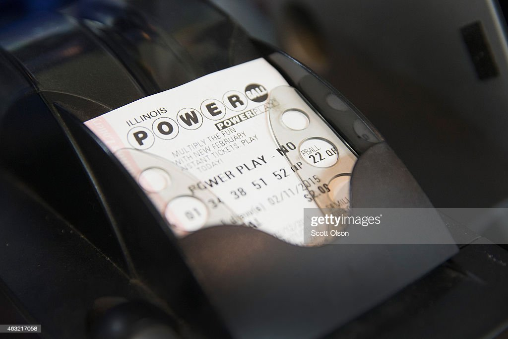 Powerball lottery ticket is printed for a customer at a 7Eleven store on February 11 2015 in Chicago Illinois Ticket sales have caused the jackpot to...