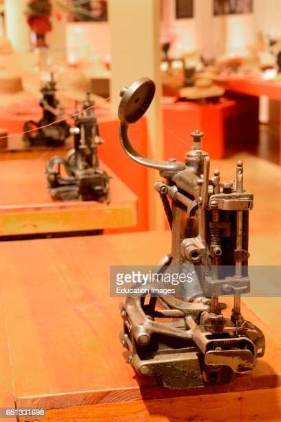 Powered Sewing Machine Straw Hats In the Early Novecento Museo Del Cappello Montappone Italy