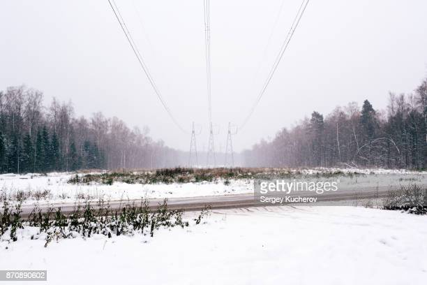 Powerline in snow