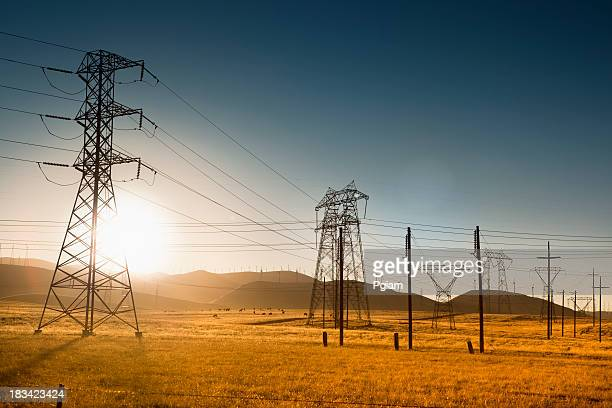 Powerlines en Californie, États-Unis