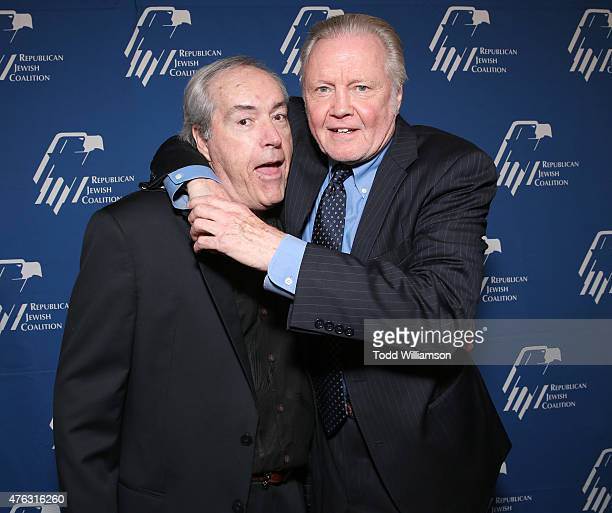 Powers Boothe and Jon Voight attend the Republican Jewish Coalition Summer Gala at Regent Beverly Wilshire Hotel on June 7 2015 in Beverly Hills...