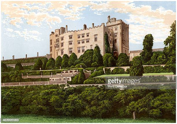 Powis Castle Powys Wales home of the Earl of Powys c1880 A print from A Series of Picturesque Views of Seats of the Noblemen and Gentlemen of Great...