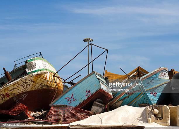 Pozzallo, Sicily: Migrant Ship Graveyard on Southern Coast