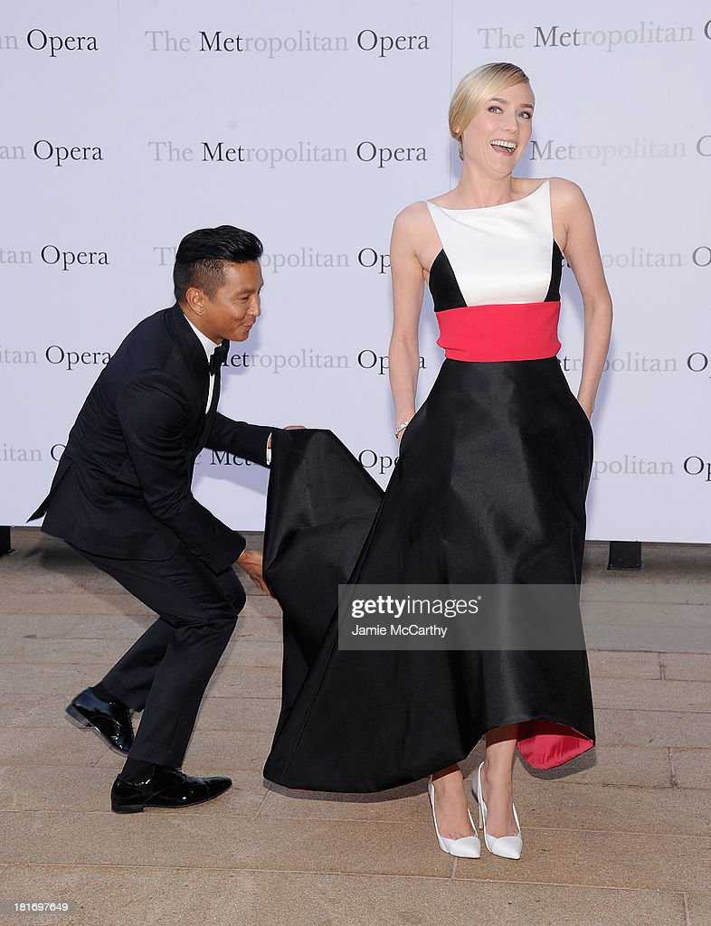 Prabal Gurung and Diane Kruger attend the Metropolitan Opera Season Opening Production Of 'Eugene Onegin' at The Metropolitan Opera House on September 23, 2013 in New York City.