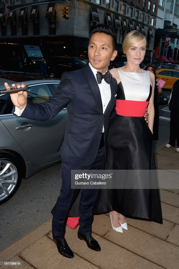 Prabal Gurung and <a gi-track='captionPersonalityLinkClicked' href=/galleries/search?phrase=Diane+Kruger&family=editorial&specificpeople=202640 ng-click='$event.stopPropagation()'>Diane Kruger</a> is seen New York on September 23, 2013 in New York City.