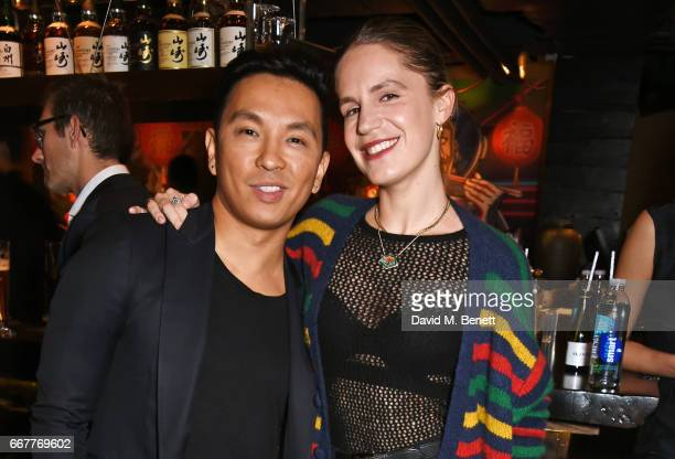 Prabal Gurung and Eugenie Niarchos attend Prabal Gurung and Caroline Issa's dinner at Shochu Lounge at ROKA to celebrate the arrival of Spring 2017...