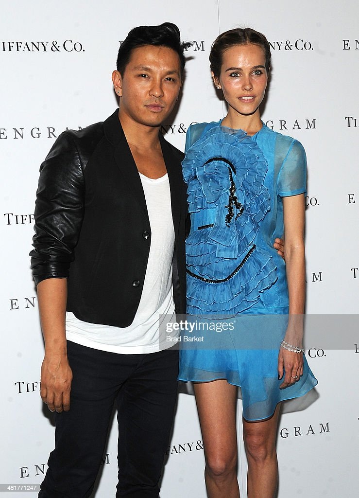 Prabal Gurung (L) and Isabel Lucas attend the 'ENGRAM' screening at Museum of Modern Art on March 31, 2014 in New York City.