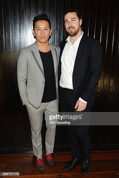 Prabal Gurung and Paul Josephson attend Nate Berkus and Next Generation Nepal Honor Prabal Gurung at Penthouse at the Park on June 7 2016 in New York...