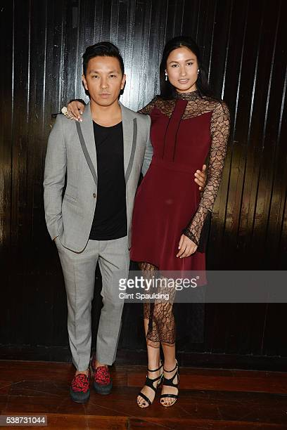 Prabal Gurung and Varsha Thapa attend Nate Berkus and Next Generation Nepal Honor Prabal Gurung at Penthouse at the Park on June 7 2016 in New York...
