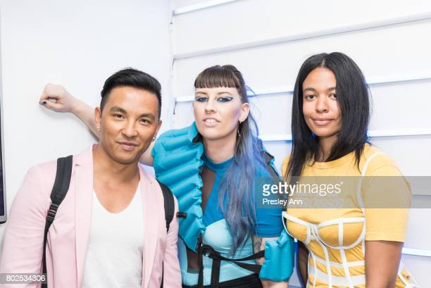 Prabal Gurung Becca McCharen and Aurora James attend MAC Celebrates the Winner of the CFDA/Vogue Fashion Fund Capsule Collection CHROMAT at Maru...