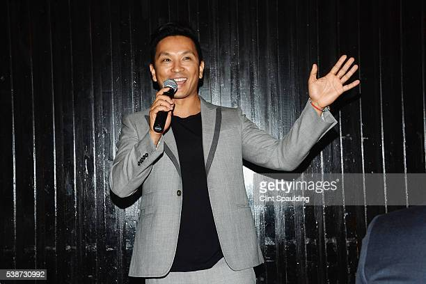 Prabal Gurung speaks as he is honored by Nate Berkus and Next Generation Nepal at Penthouse at the Park on June 7 2016 in New York City