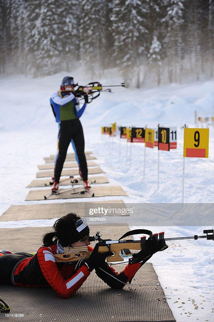Practice at shooting range