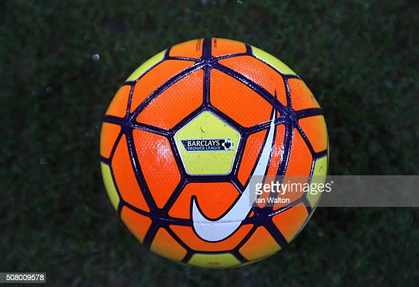 A practice ball is seen prior to the Barclays Premier League match between Crystal Palace and AFC Bournemouth at Selhurst Park on February 2 2016 in...