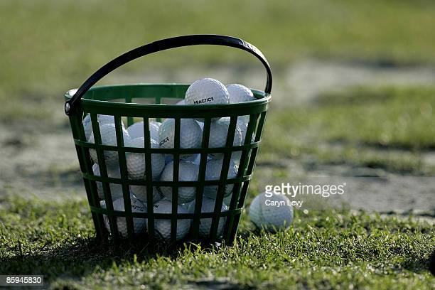 Practice balls in bucket during the second round of the Ford Championship at Doral held on the Blue Course at Doral Golf Resort and Spa in Doral...