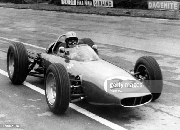 Practice session for the 15th BRDC International Trophy motor race run to Formula One rules held on 11 May 1963 at the Silverstone Circuit England...