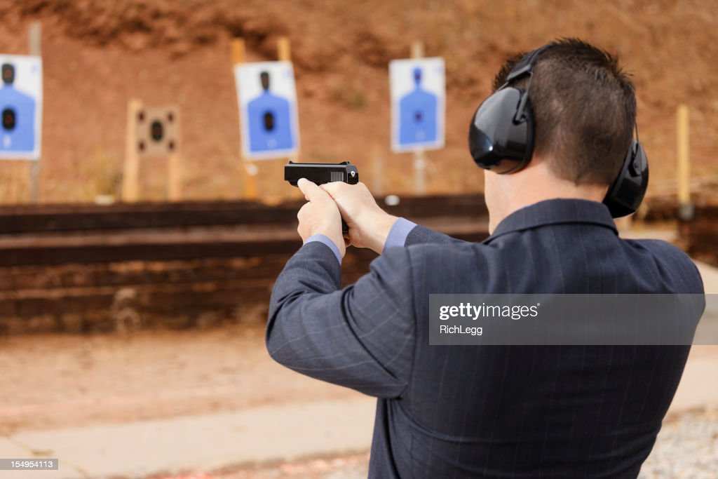 Practicing at the Shooting Range
